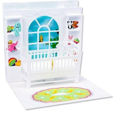 Felicitare 3D Baby crib