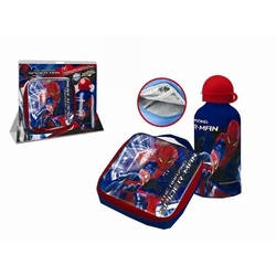 Set recipient Al si geanta termoizolanta sandwich Spiderman