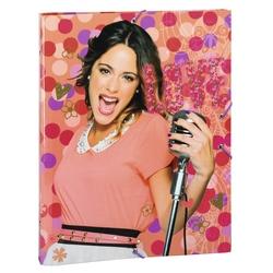 Dosar din carton cu elastic si 12 separatoare Violetta Love