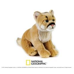 Jucarie din plus National Geographic Leu de munte 25 cm