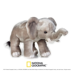 Jucarie din plus National Geographic Elefant 25 cm