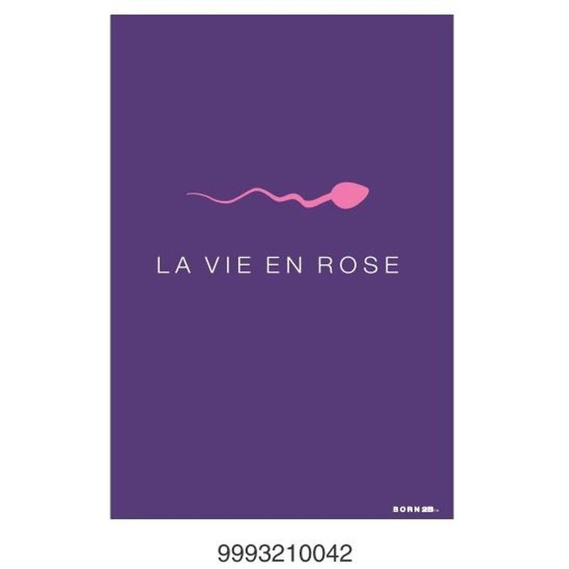 Felicitare BORN 2B - La vie en rose