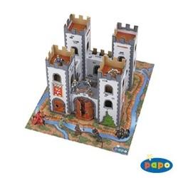 Castel medieval (din carton - figurinele nu sunt incluse)