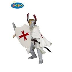 Figurina Papo Cavaler cruciat rosu