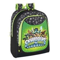 Ghiozdan pentru scoala negru cu verde Skylanders 42 cm