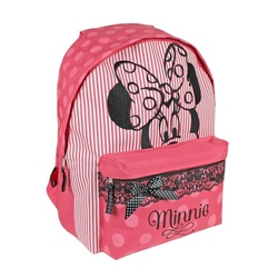 Ghiozdan scoala Minnie Mouse dantela