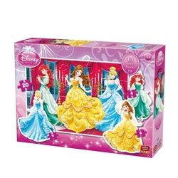 Puzzle 4 in 1 profilat Princess (4,6,9,20 piese)