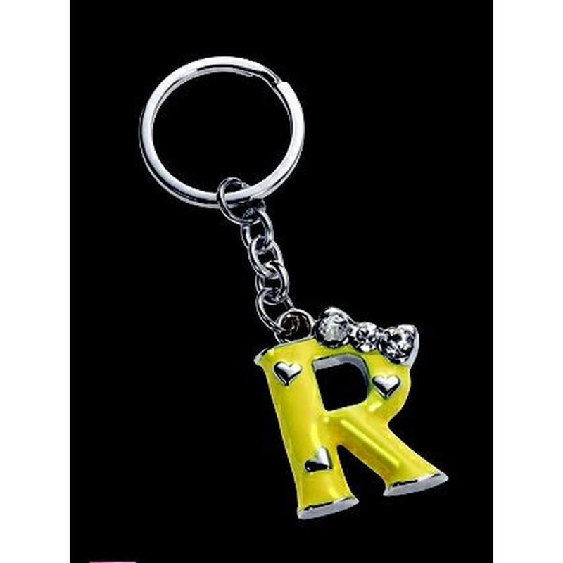 Breloc litera R cu strasuri