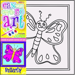 Pictura pe panza pentru copii Fluture