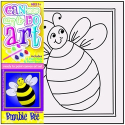 Pictura pe panza pentru copii Albinuta