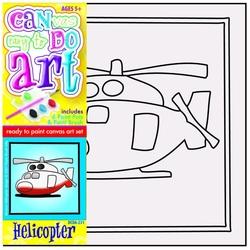 Pictura pe panza pentru copii Elicopter