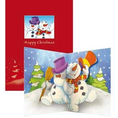 """Felicitare de iarna """"Dancing Snowman"""""""