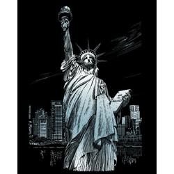 Set gravura pe folie argintie - Statuia Libertatii