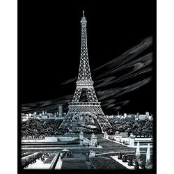 Set gravura pe folie argintie - Turnul Eifel