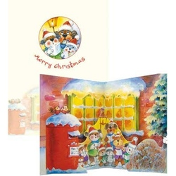 "Felicitare de iarna Popsies ""Animal carolers"""