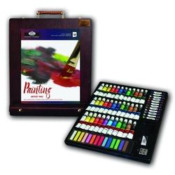 Trusa pictura complexa 102 piese culori ulei, acuarela, acrilic