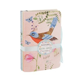 Set de 4 carnetele Eclectic Watercolour Birds