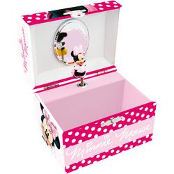 Caseta muzicala cu oglinda si figurina Minnie Mouse