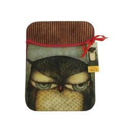 Eclectic Husa iPad Grumpy Owl