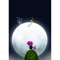 Felicitare Eclectic-Kitten On The Moon