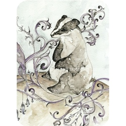 Felicitare Eclectic-The Badger