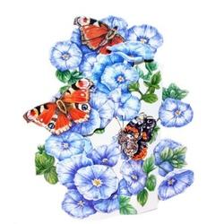 Felicitare 3D-Fluturasi pe flori