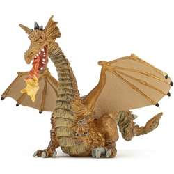 Figurina Papo - Dragon auriu inaripat cu flacara