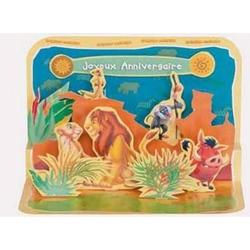 Felicitare 3D Timon si Pumba Disney