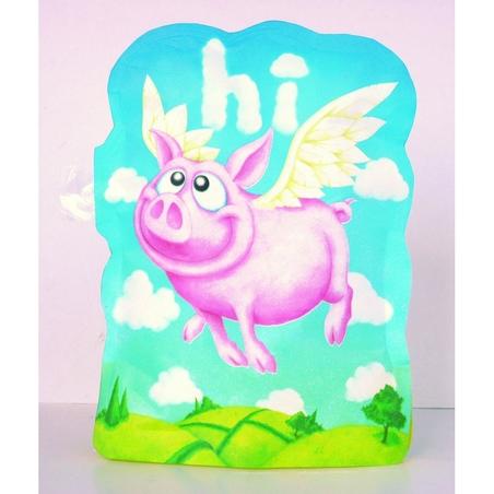 Felicitare Porcii pot zbura-gonflabila 3D