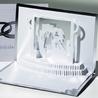 Felicitare 3D stil Origami-Nunta de argint