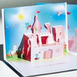 Felicitare Castelul printeselor-3D stil Origami