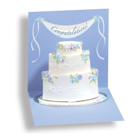 Felicitare 3D Treasure-Tort de nunta