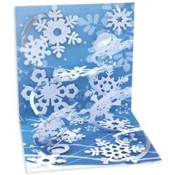 Felicitare 3D pentru iarna- Fulgi de nea