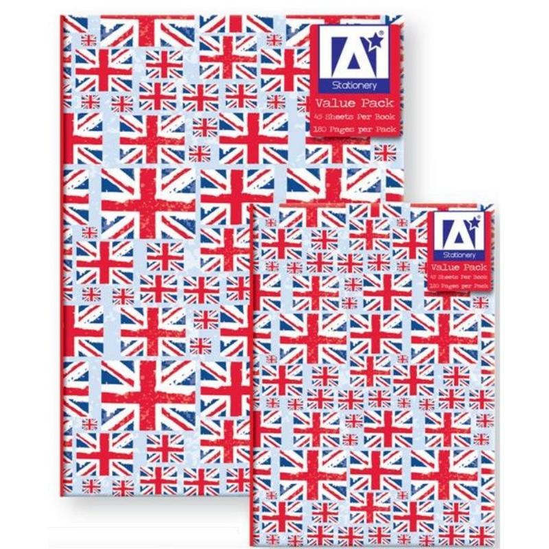 Set 2 caiete A6/A5 cu coperti cartonate model Steag Marea Britanie