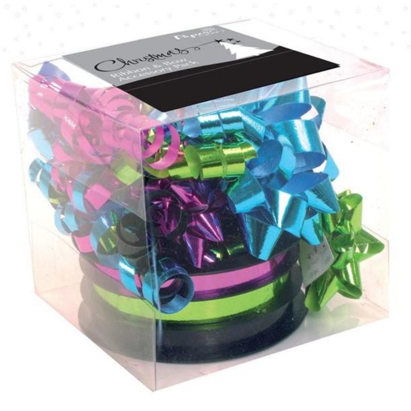 Set accesorii multicolore de impachetat panglica & funde-mixt