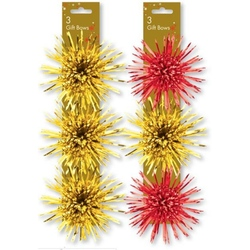 Pompoane aurii si rosii pentru decorarea cadoului