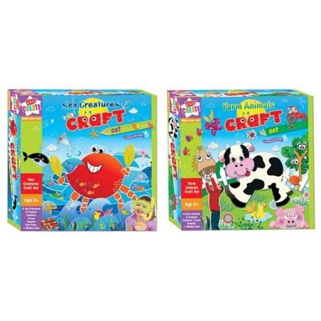 Set creativ animale (animale de ferma/creaturile marii)-Kids Create