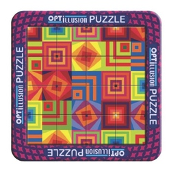 Puzzle magnetic holografic - Iluzie optica patrate