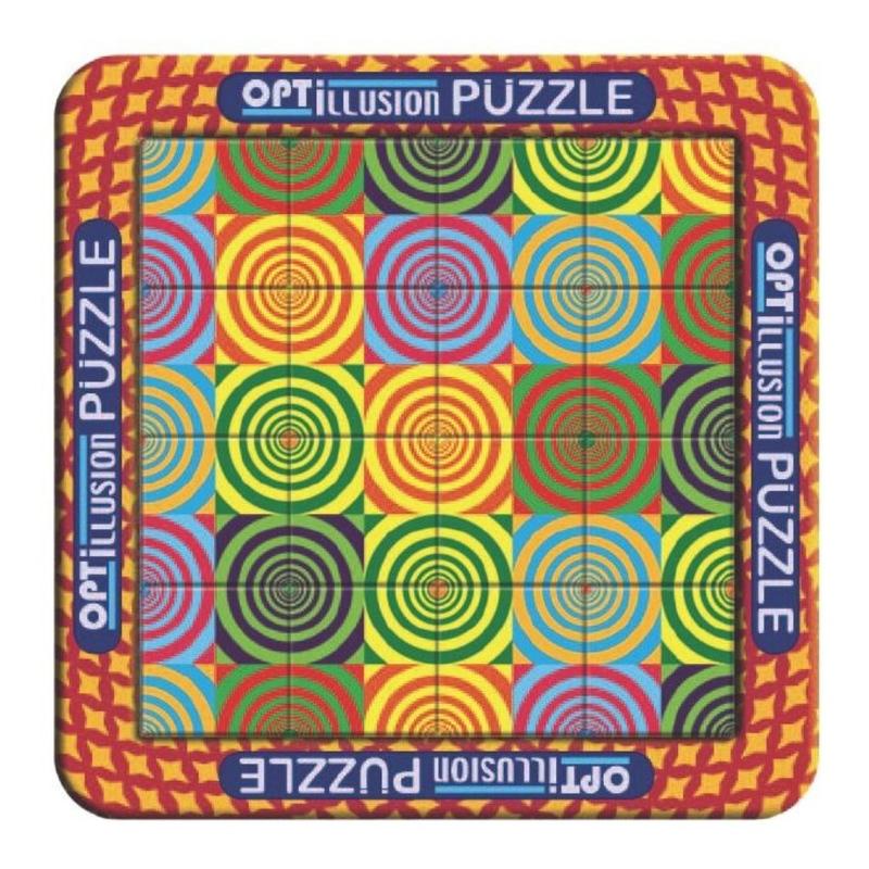 Cerculete-Puzzle magnetic holografic cu iluzie optica