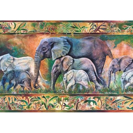 Puzzle Castorland 1000 piese Parada elefantilor