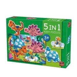 Puzzle 5 in 1 - Dinozauri