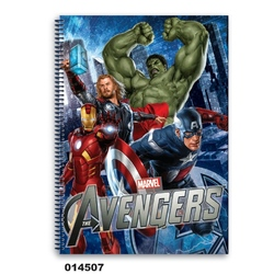 Caiet matematica cu spira A4 (80file) colectia Avengers