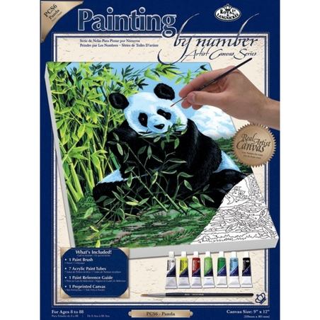 Pictura pe panza  - Panda