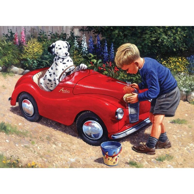 "Pictura pe numere juniori - ""Spalatorie auto"""