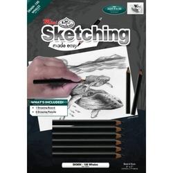 Set pentru realizarea unui desen in creion - Balena