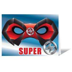 Felicitare cu masca-Super erou