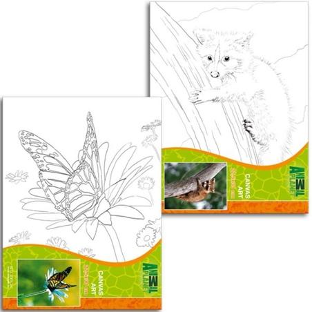 Pictura pe panza pentru copii Animal Planet 22,5X30 cm
