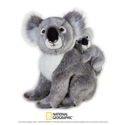 Jucarie din plus National Geographic Koala cu pui 37cm