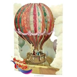 Balon cu aer cald - Felicitare 3D Swing Cards