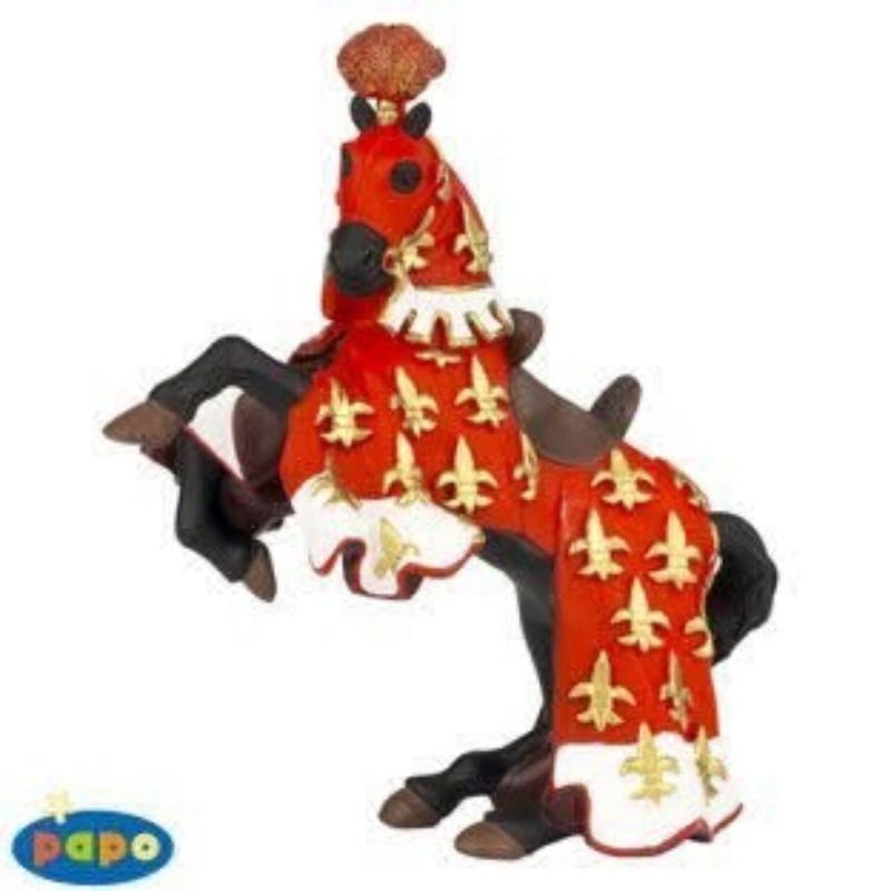 Calul printului Filip (rosu) - Figurina Papo
